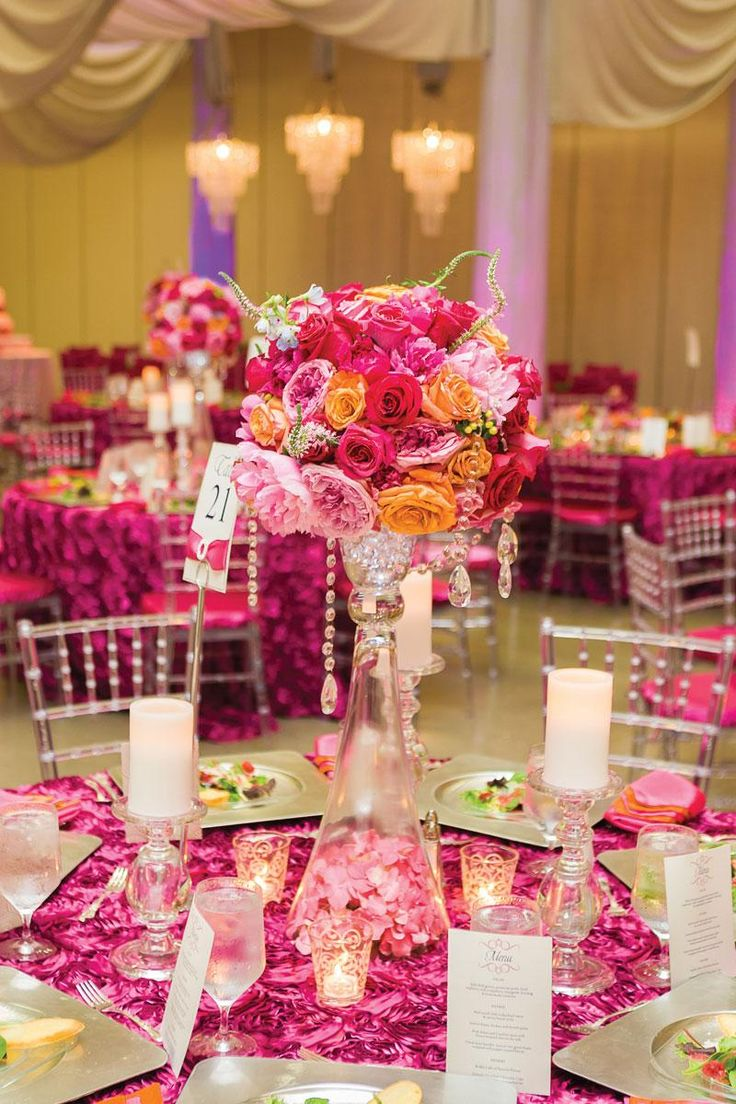Romantic Timeless Floral Wedding Centerpieces