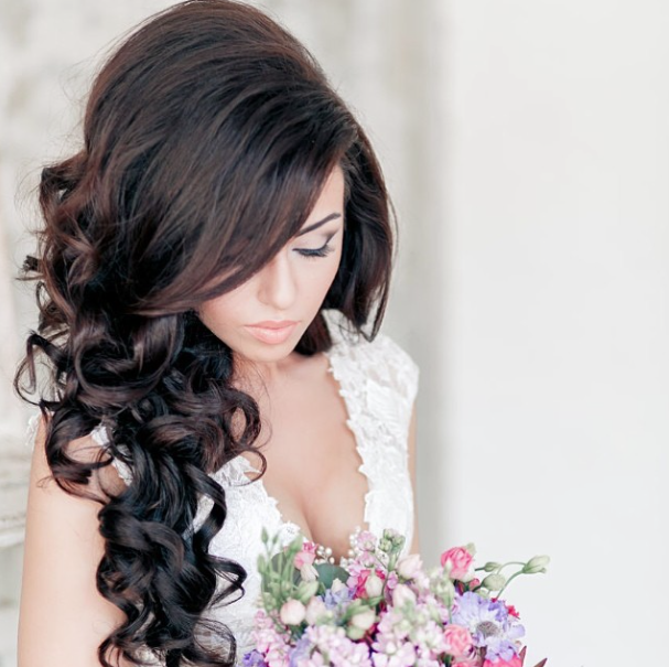 28 prettiest wedding hairstyles modwedding wedding hairstyle 1 10032014nzy junglespirit Images