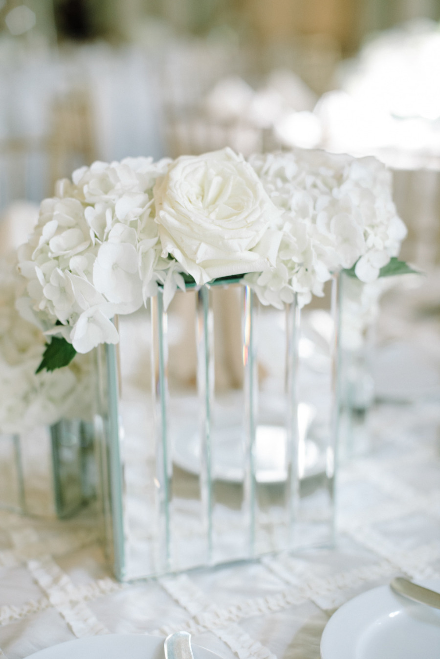 White-Themed Ballroom Glamour Atlanta Wedding - MODwedding