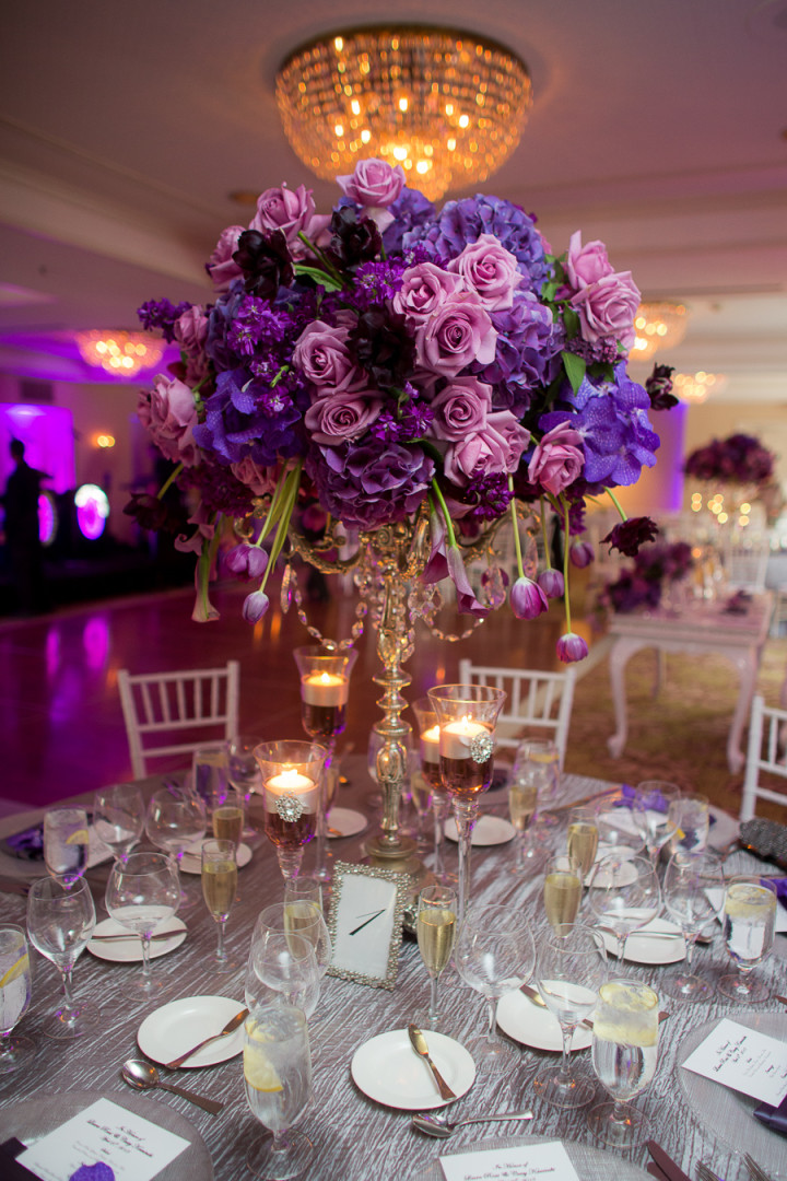 purple flower centerpieces for weddings a regal purple california wedding from the youngrens 6892