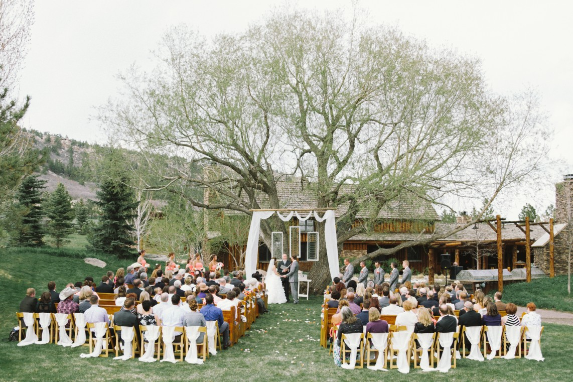 A mountain ranch denver wedding modwedding for Wedding dress rental denver co