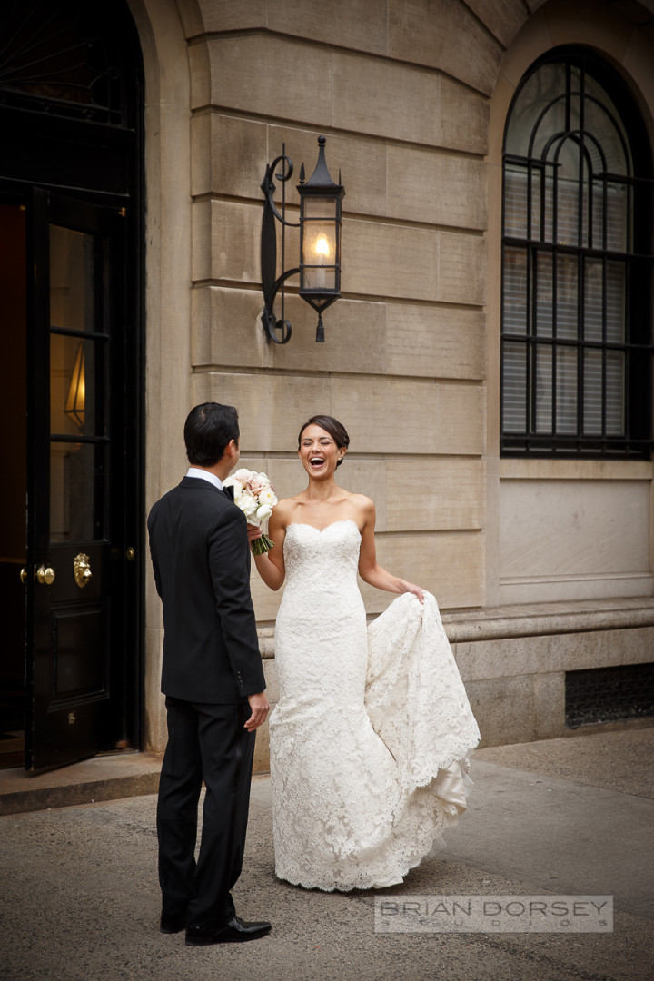 Sophisticated New York Wedding With Warm Amber Lighting