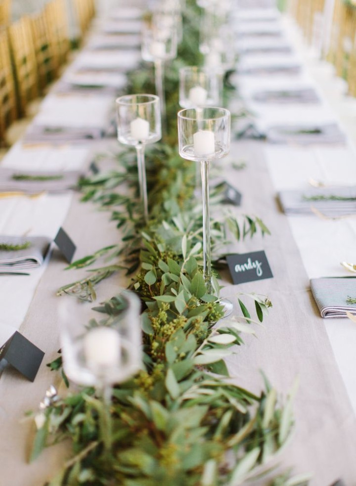 Fresh floral table runners make the perfect wedding centerpieces wedding ideas 11 01312015 ky junglespirit Choice Image