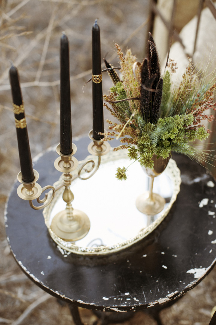 Gothic Bohemian Fall Wedding Inspiration Shoot Modwedding
