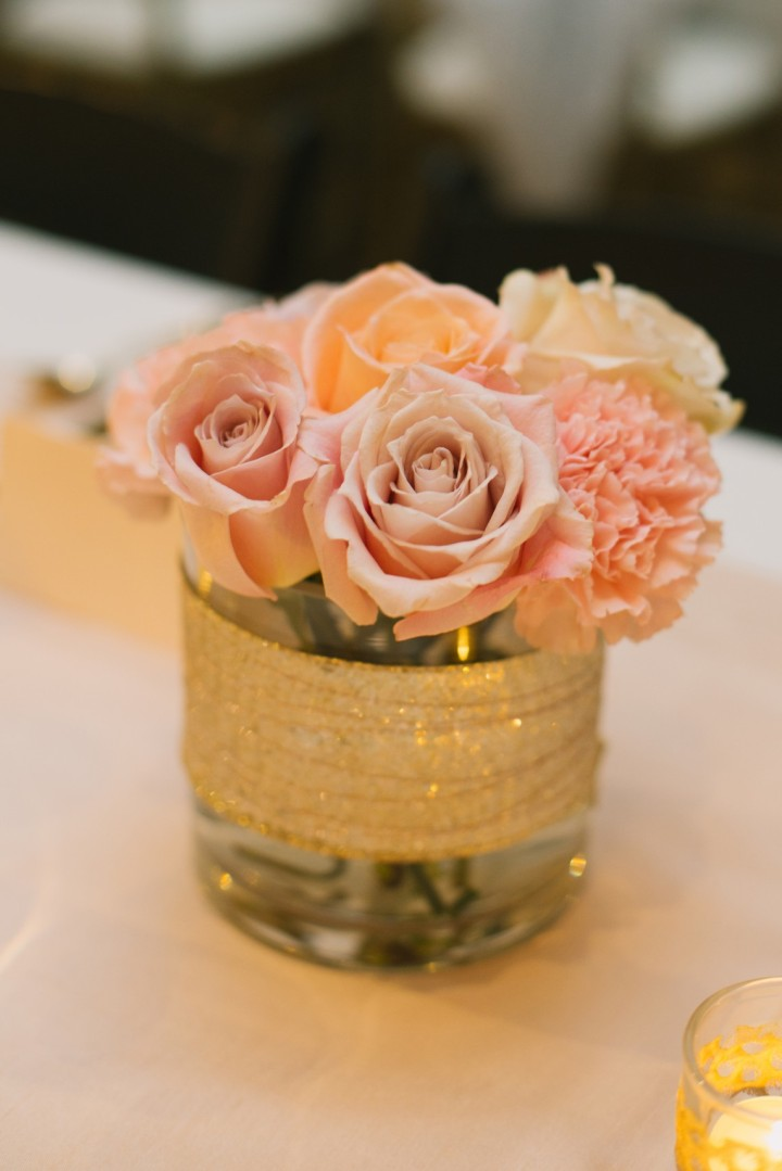Romantic rose gold seattle wedding modwedding