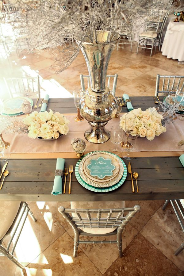 Color Inspiration Stylish Turquoise And Teal Wedding