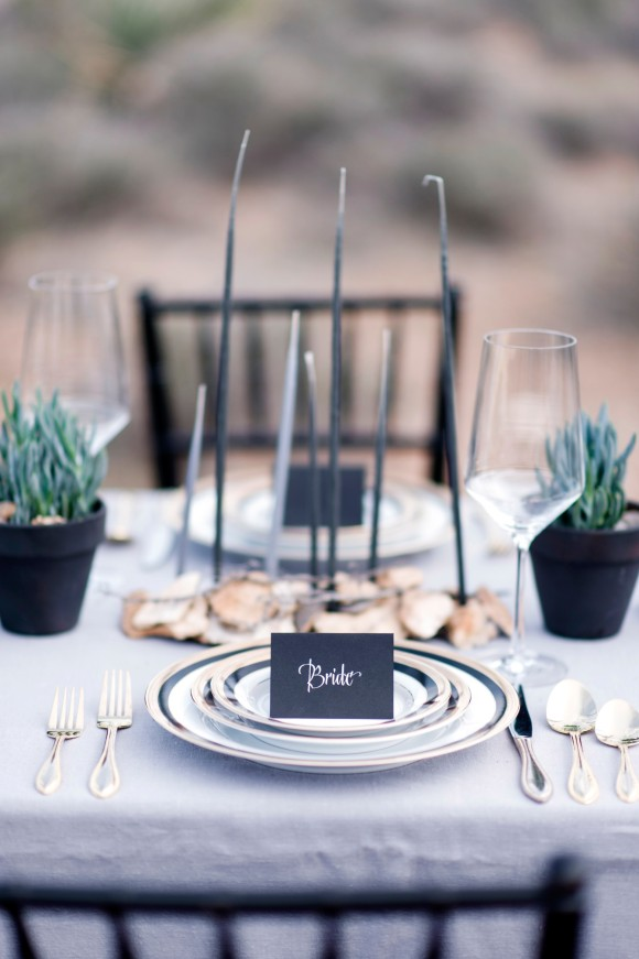 Color Inspiration Modern Black On White Wedding Ideas