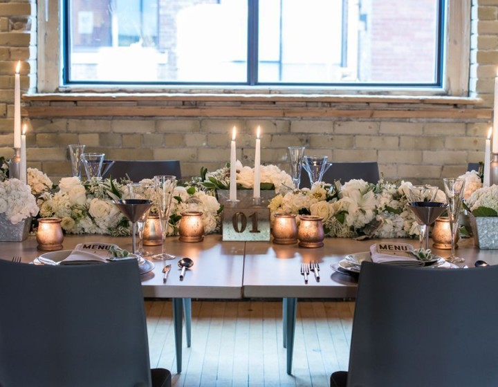 Styled Shoot Chic Industrial Wedding Reception Ideas from