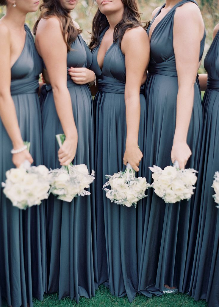 Dusty navy blue bridesmaid dress
