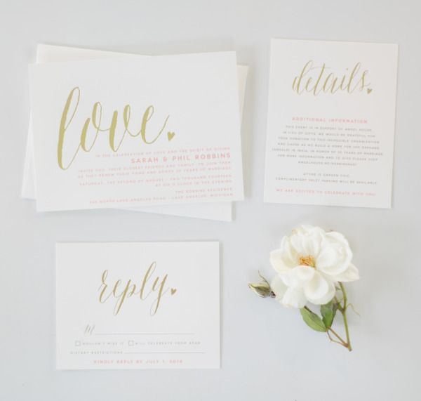 21 Chic Minimalistic Wedding Invitations