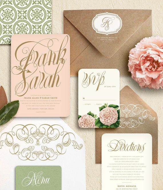 Editors picks gorgeous wedding invitations to impress your guests wedding invitations 5 02182015 ky stopboris Images