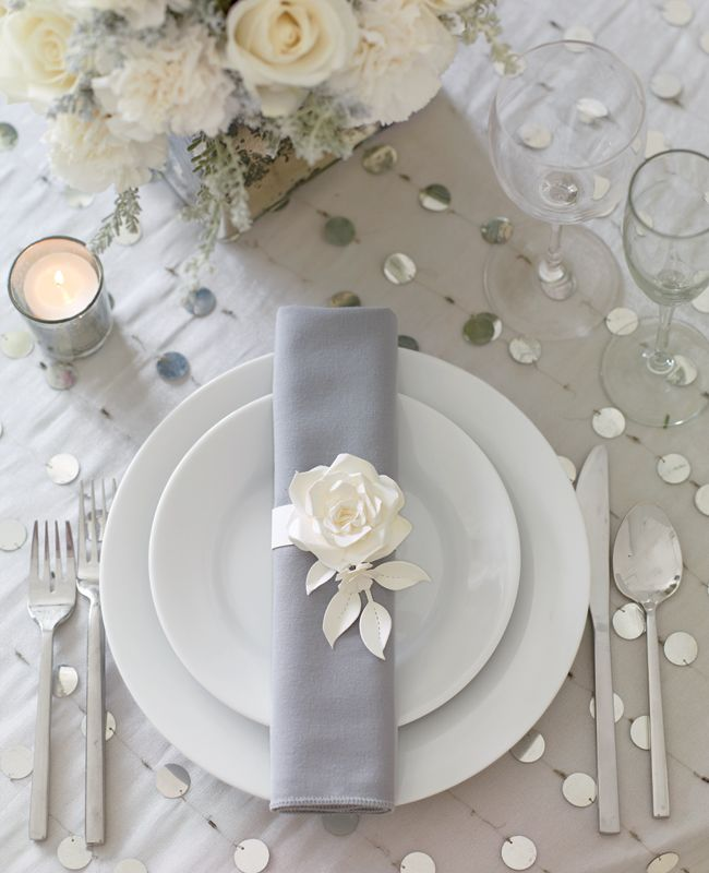 Wedding Table Place Card Ideas: 20 Impressive Wedding Table Setting Ideas