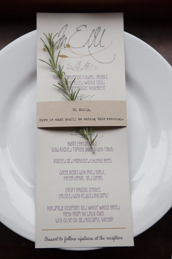 Entice Your Guests With These Lovely Wedding Menu
