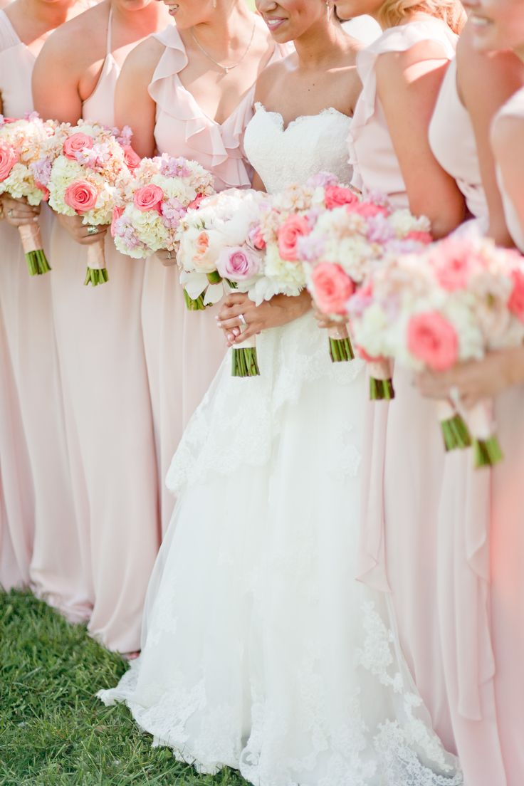 The most gorgeous bridesmaid dresses from joanna august for Wedding dress with red flowers