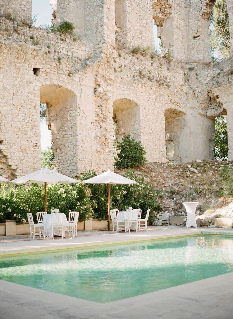 Amazing destination wedding at french chateau in provence for Pool design france
