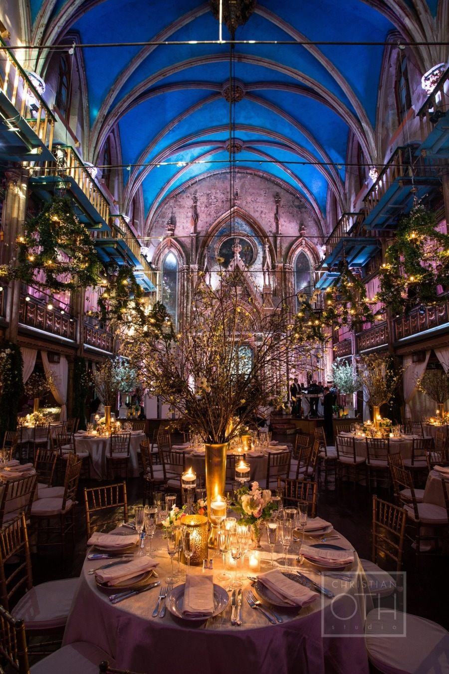 elegant ballroom glamour manhattan wedding from loli events