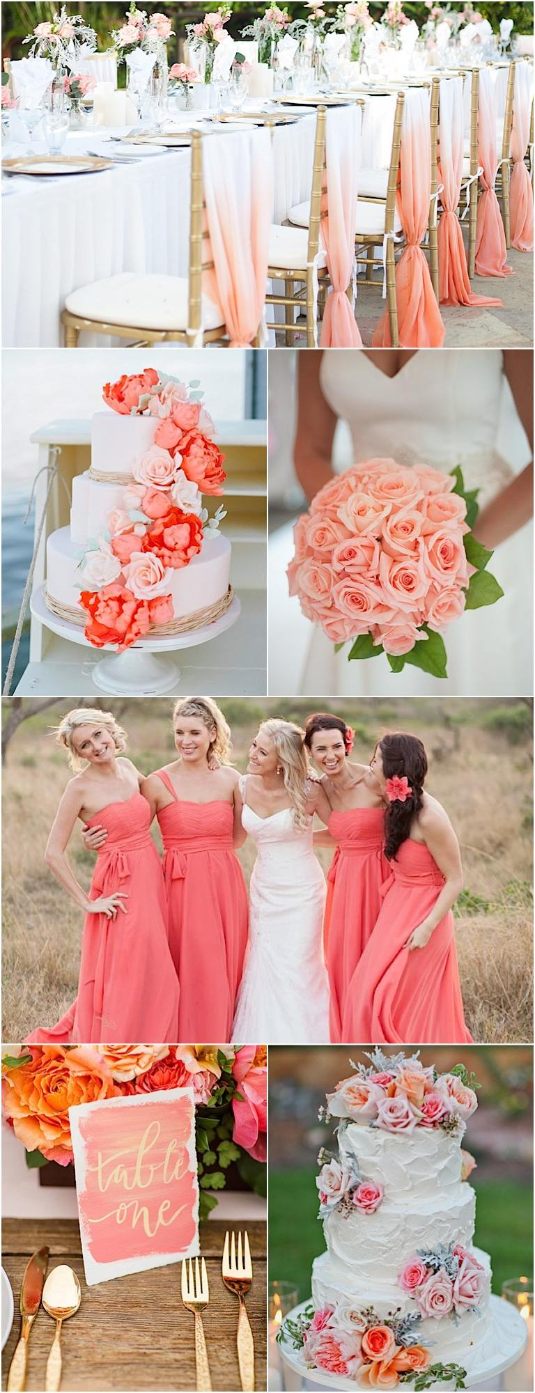 Color inspiration perfect coral and gold wedding ideas for Wedding ideas for pictures