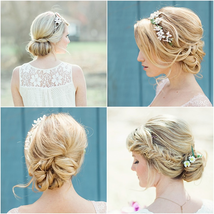 Classic Hairstyles For Weddings: Flower Power: Classic Floral Wedding Hairstyles By Jackie