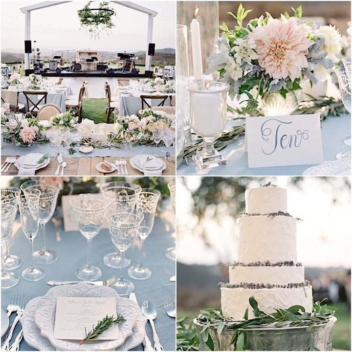 Pastel Blue Wedding Theme: California Wedding: Fresh Powder Blue Decor