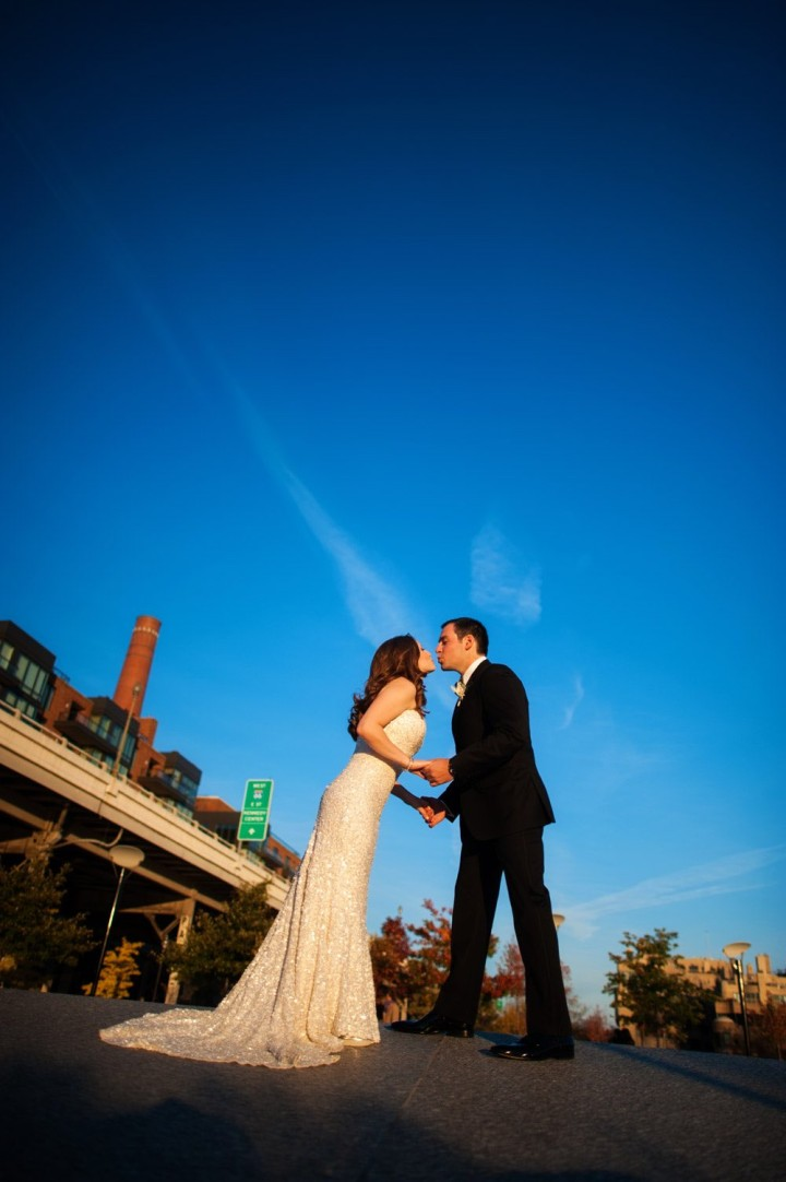 Wedding of Alyssa Kahn and David Fiedler at the Ritz Carlton Georgetown in Washington, DC Saturday, November 15, 2014. (© 2014 Michael Connor / Connor Studios)
