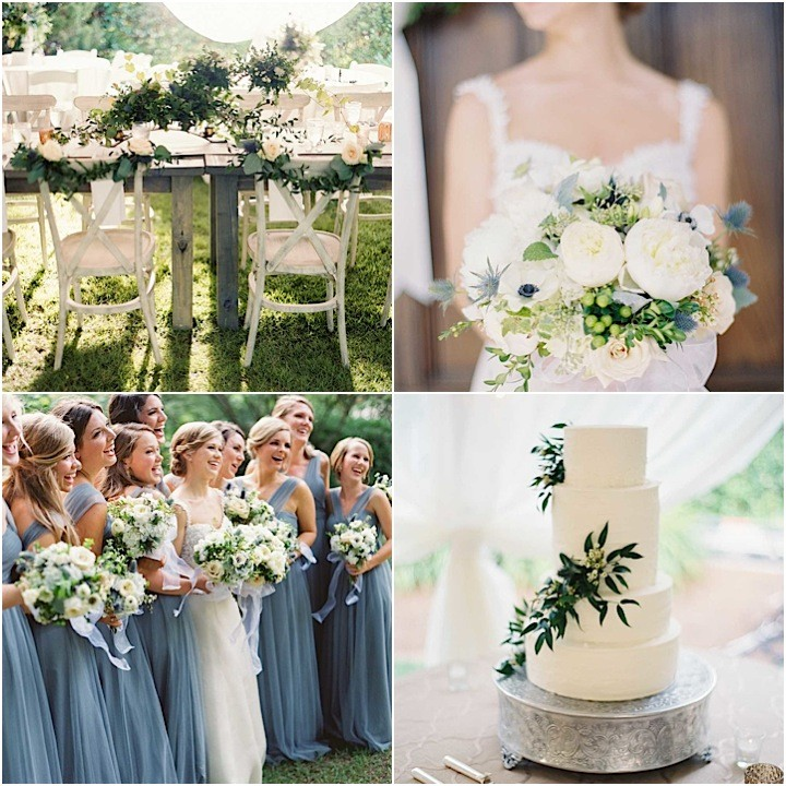 Charming georgia wedding with romantic dusty blue details for Where can i buy wedding decorations
