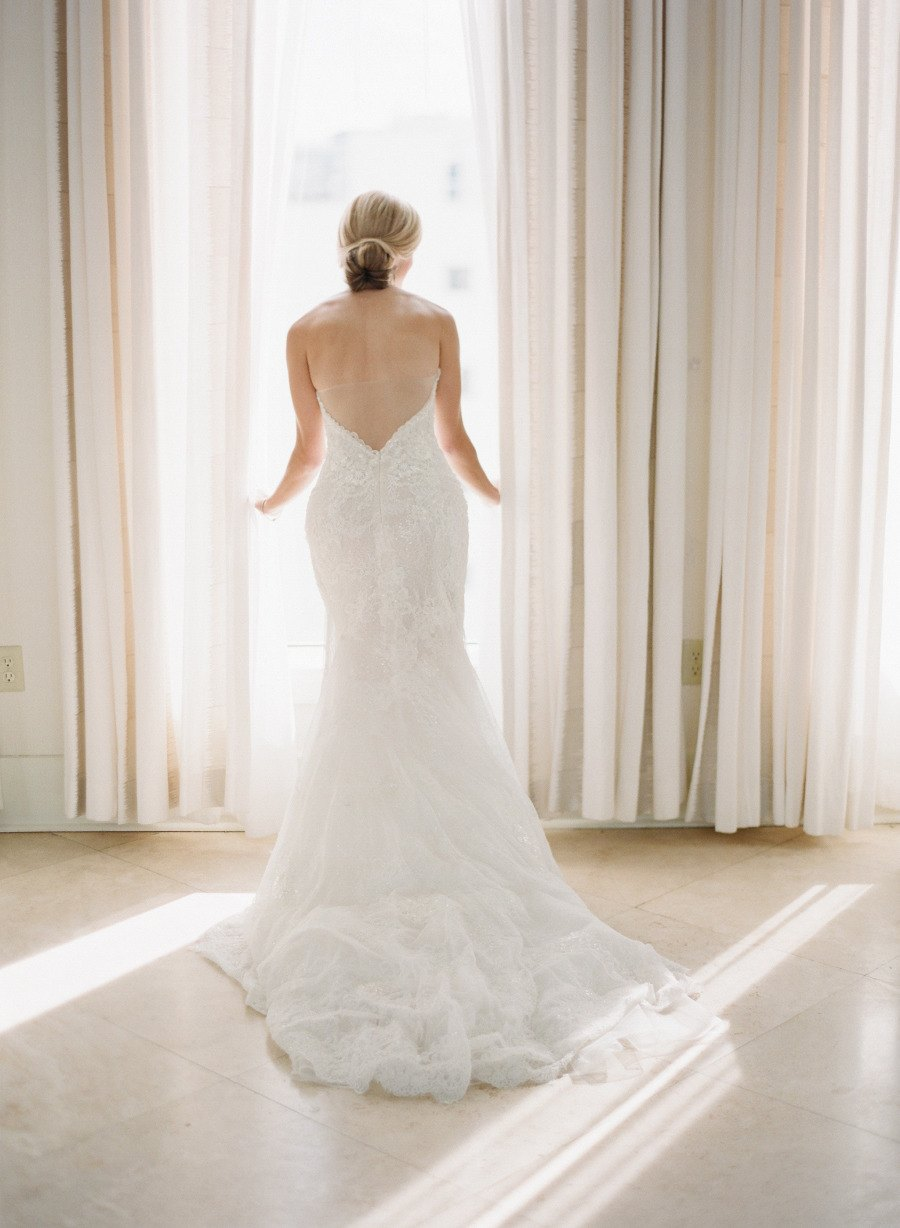 Bride wears stunning ines di santo gown to miami wedding for Miami wedding dresses