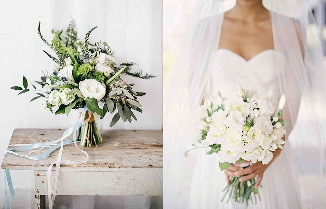 Wedding Ideas: The Loveliest White Wedding Bouquets