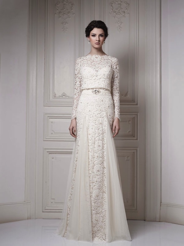 21 Gorgeous Long-Sleeved Wedding Dresses - MODwedding