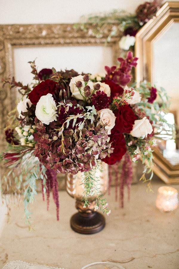 Romantic Marsala New York Wedding Inspiration At The