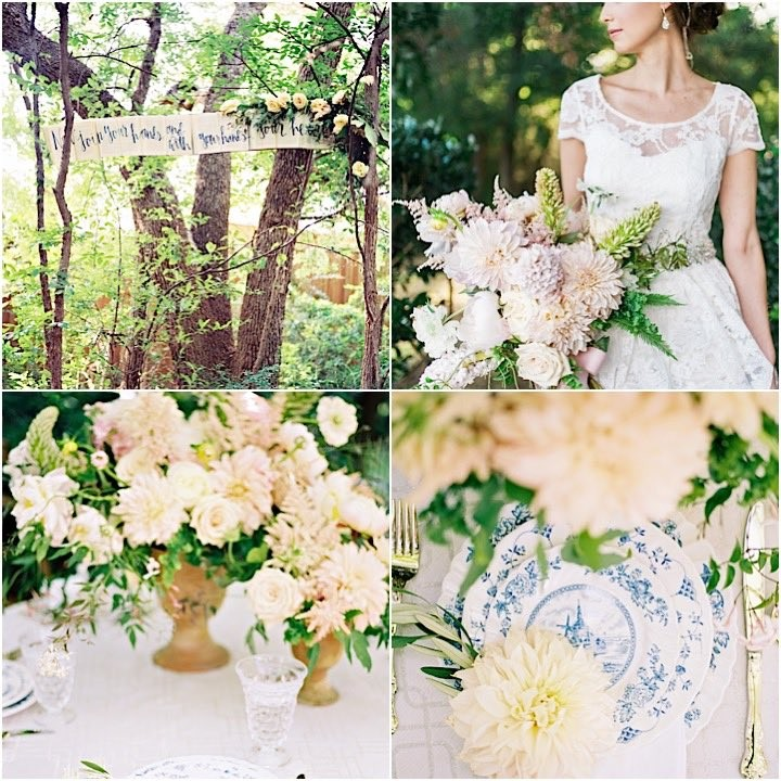 Garden Themed Wedding: English Garden Theme Texas Wedding Inspiration