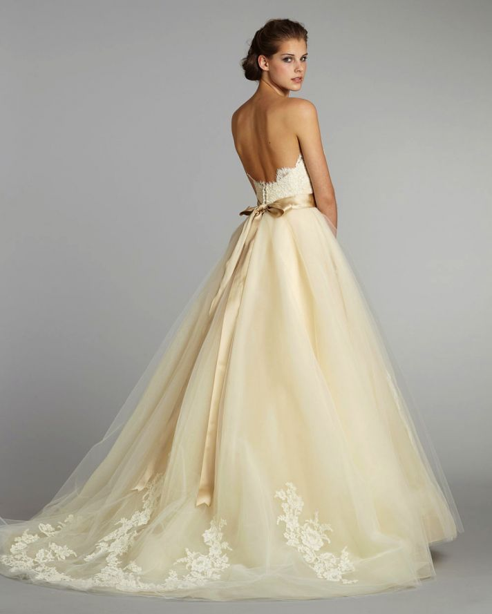 Pale Yellow Wedding Dress _Wedding Dresses_dressesss