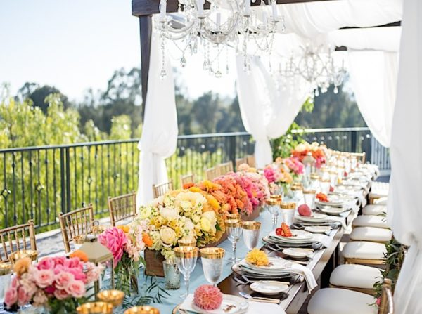 Show Stopping California Wedding with Bright Blooms