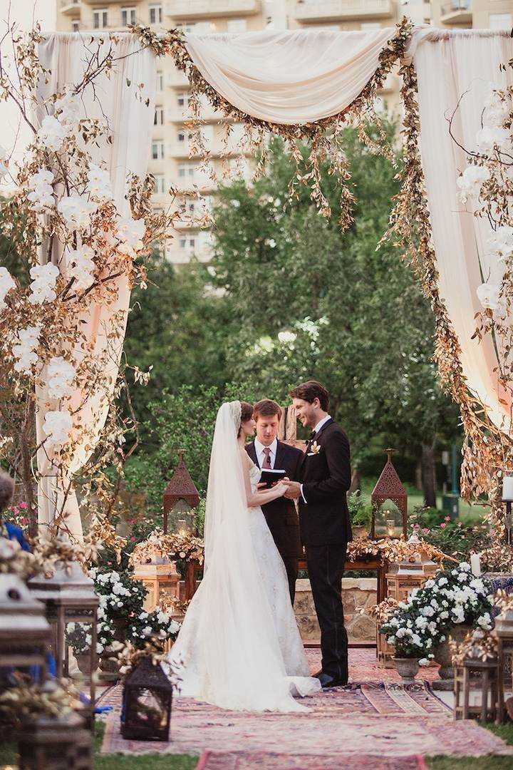 Lavish Blue And Gold Dallas Wedding Modwedding