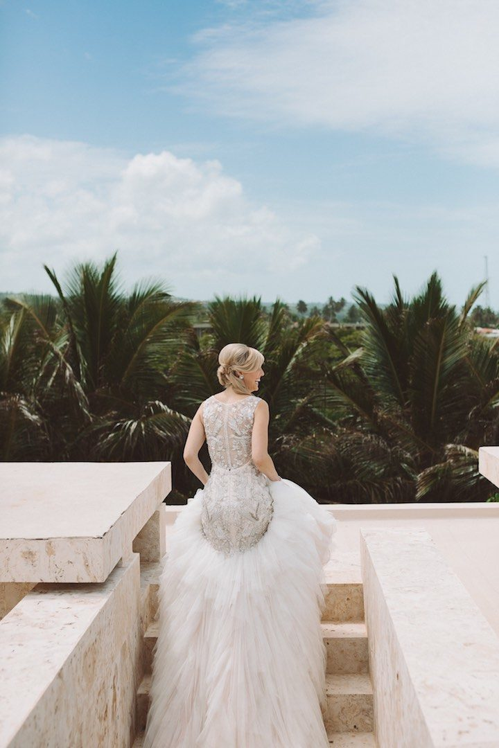 Elegant All White Dominican Republic Wedding MODwedding