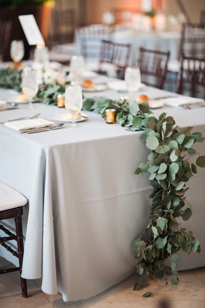 Lush greenery fills this florida wedding modwedding for Wedding greenery ideas