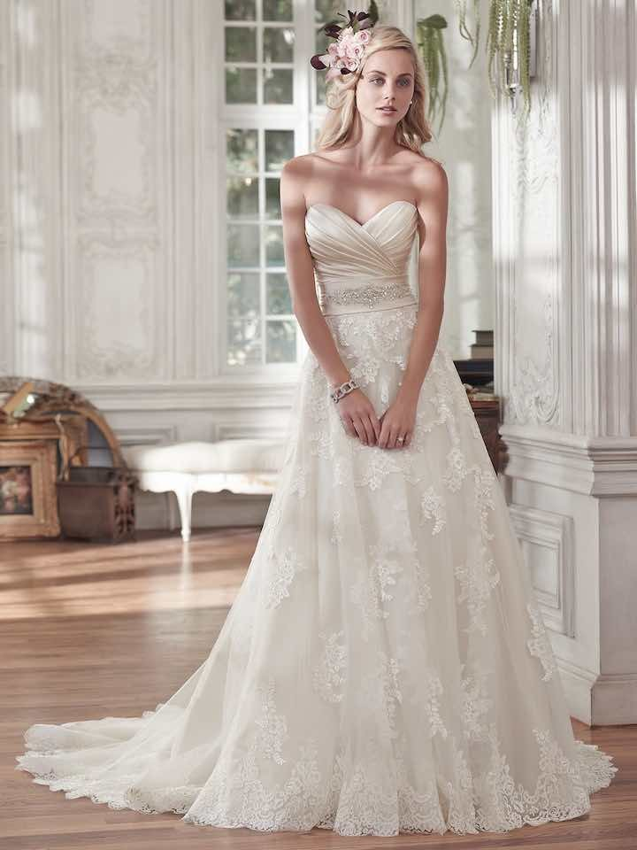 romantic wedding dresses wedding dresses with details modwedding 7107