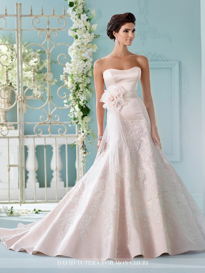 Trending: Colored Wedding Dresses Mon Cheri Bridals - MODwedding