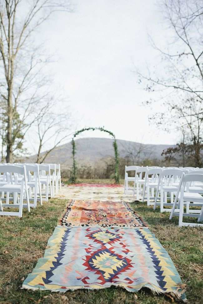 Amazing wedding aisle runner ideas modwedding for Wedding walkway