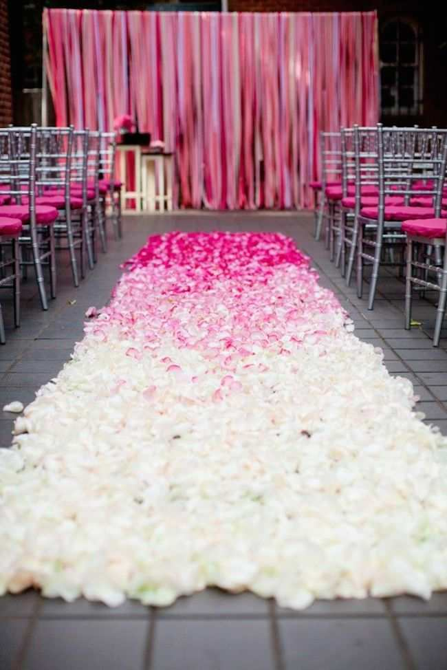 how to make a wedding aisle runner