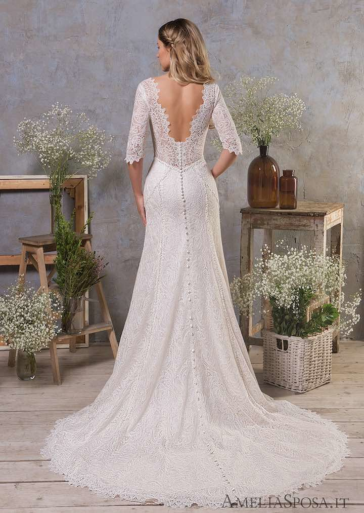 Classic feminine beauty in these amelia sposa wedding for Amelia sposa wedding dress