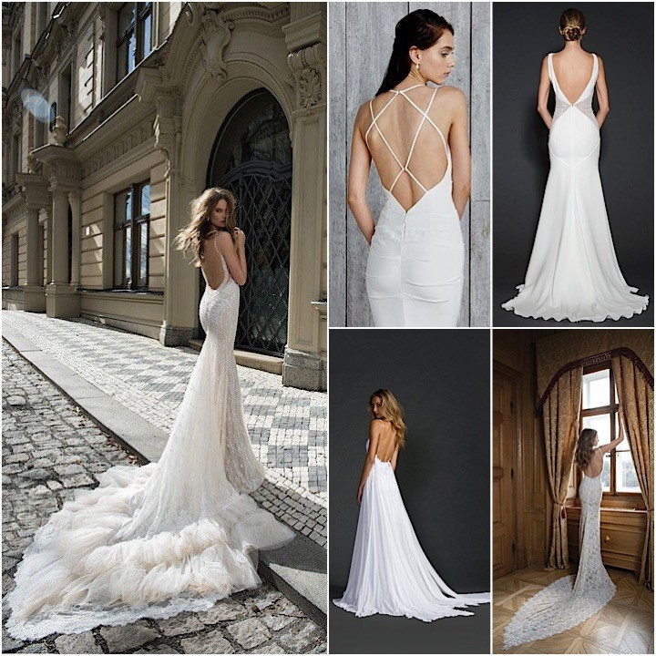 backless wedding dresses with sexy details modwedding