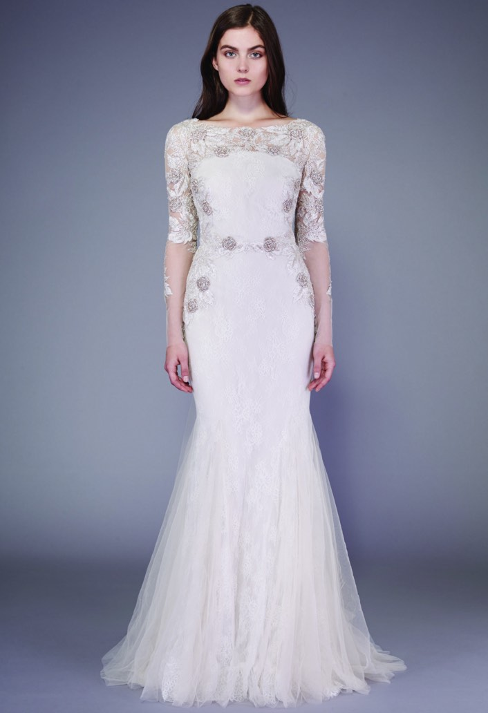 Wedding dresses with modernly chic glamour modwedding for Wedding dress badgley mischka