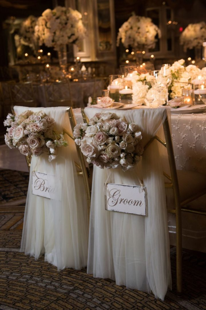 Glamorous ballroom new york wedding at the pierre hotel for Hotel wedding decor