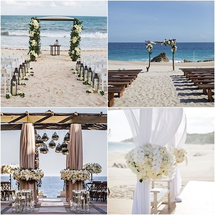 Beach Wedding Ceremony Processional: Stunning Beach Wedding Ceremony Ideas