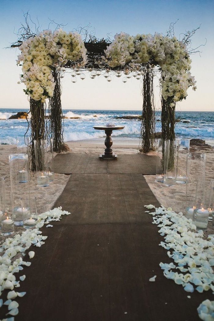wedding ideas for a beach wedding stunning wedding ceremony ideas modwedding 28007