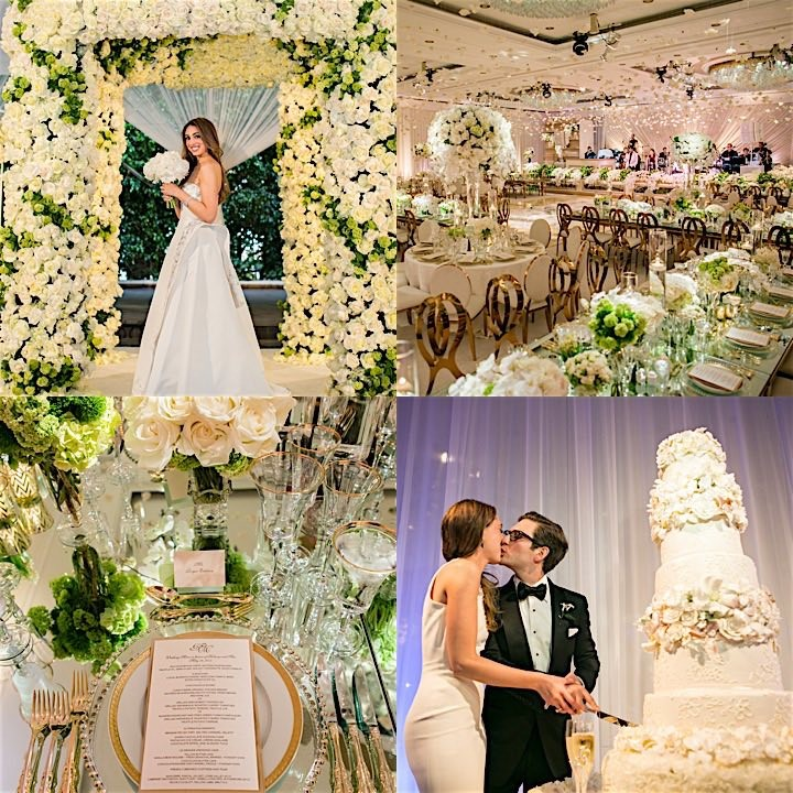 Floral Paradise in Beverly Hills Wedding - MODwedding