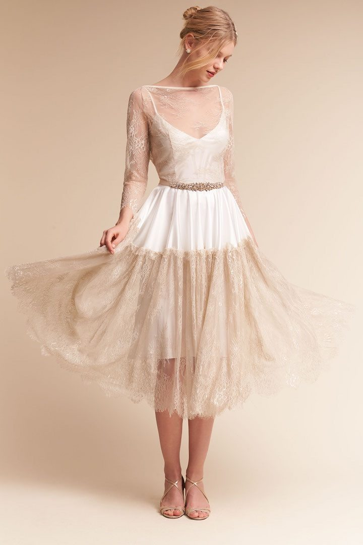 Bhldn introduces new trend layering with lingerie for Lingerie for wedding dress