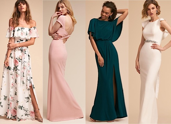 Beige Lace Bhldn Wedding Dress Or Bridesmaid Gown: Elegantly Modern BHLDN Bridesmaid Dresses Featuring Spring