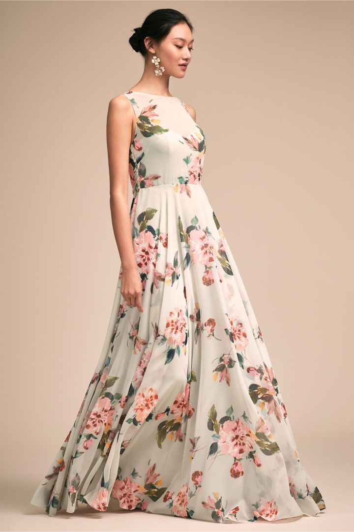 floral dresses for wedding elegantly chic bhldn bridesmaids dresses for a 4110