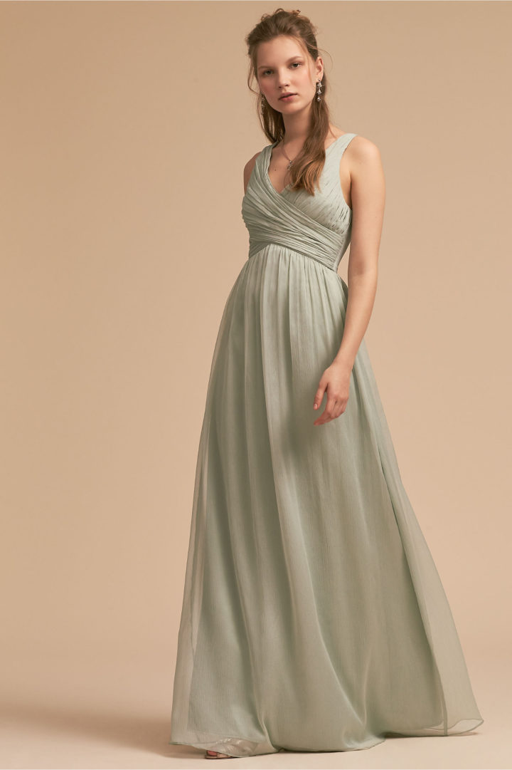 Elegantly chic bhldn bridesmaids dresses for spring a for Spring wedding bridesmaid dress colors